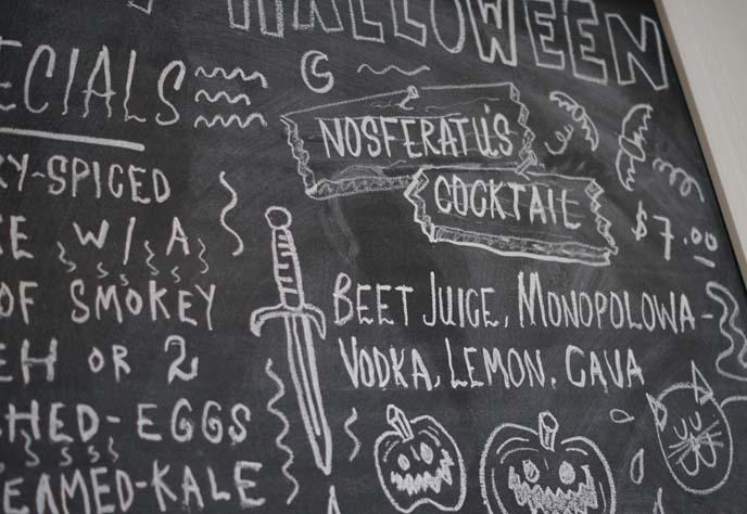 halloween cocktails spooky food