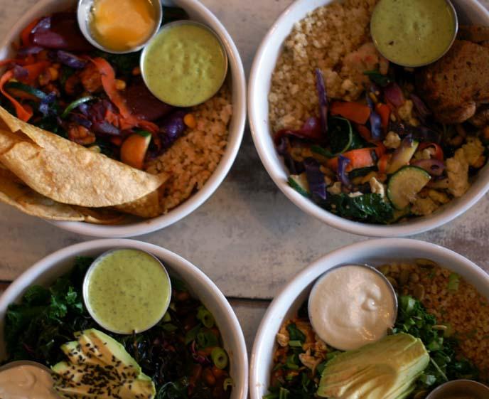 quinoa bowl, harlow portland food