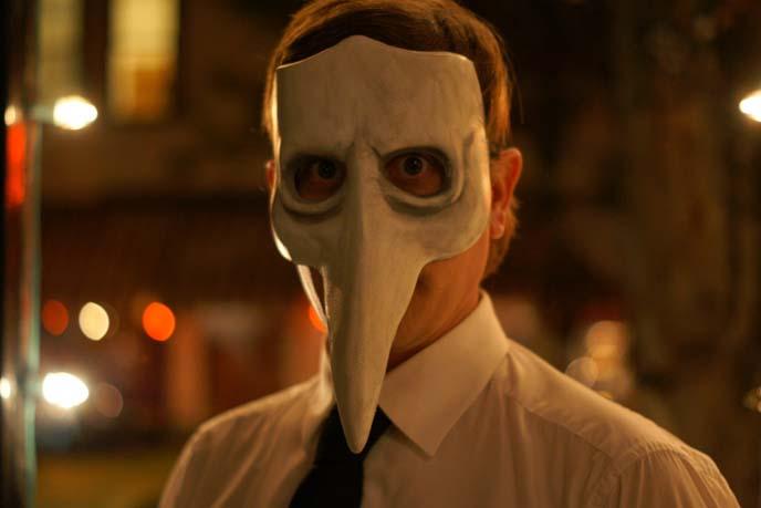 bird mask, masquerade portrait