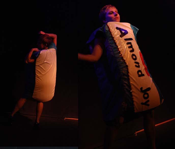 almond joy costume, dancing candy bar
