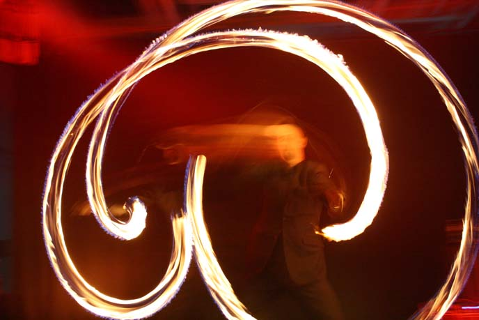 fire dancing motion