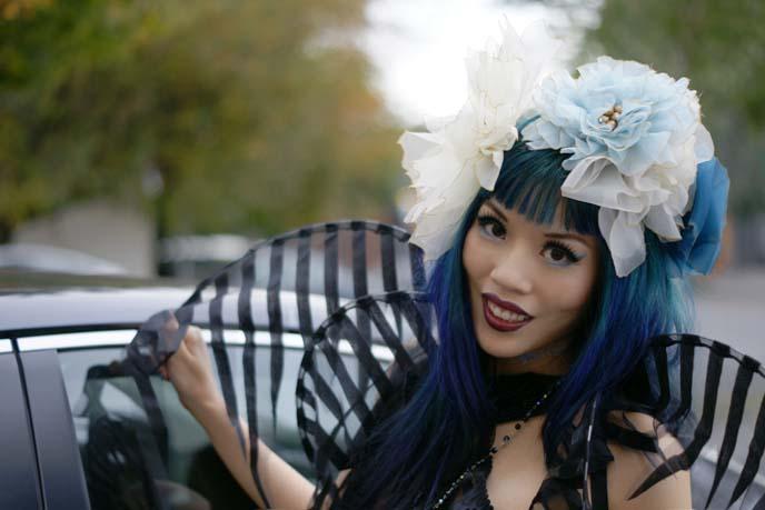 art nouveau hair accessories, flower crown