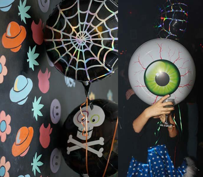 eyeball balloon, goth balloons