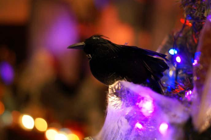 goth christmas tree decorations