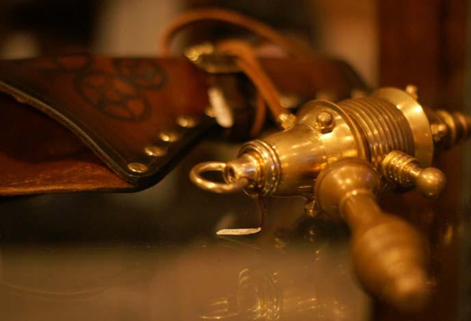 steampunk laser gun, accessories