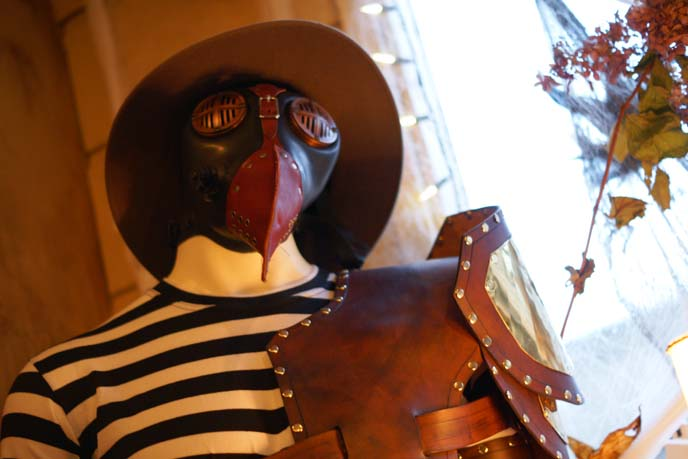 leather mask, victorian steam punk shop