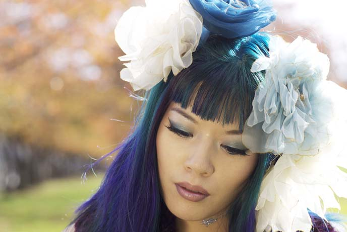 faux fur purple scarf