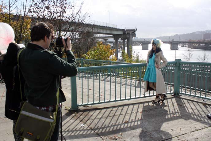 behind scenes magazine photoshoot