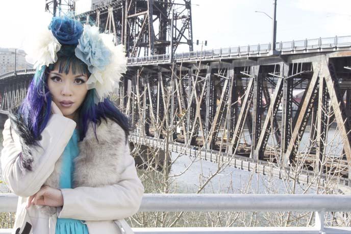portland steel bridge photoshoot