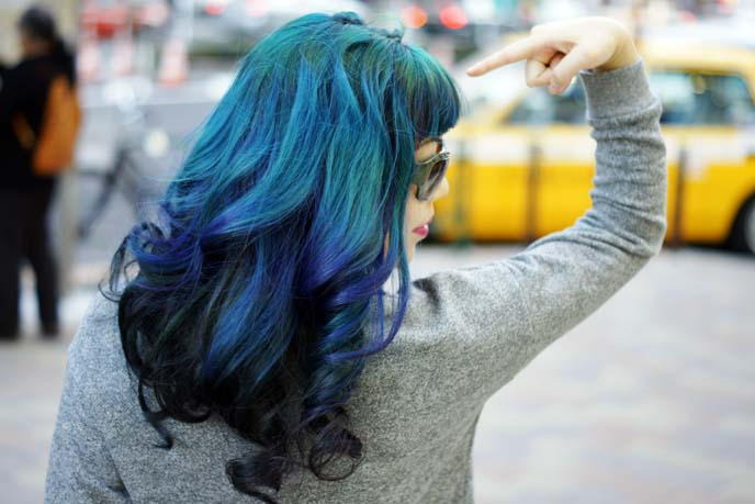 blue green ombre hair color