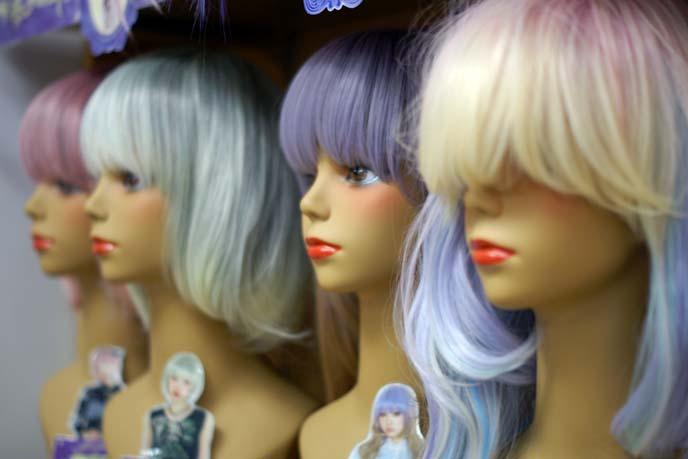 pastel color wigs, gothic lolita wig