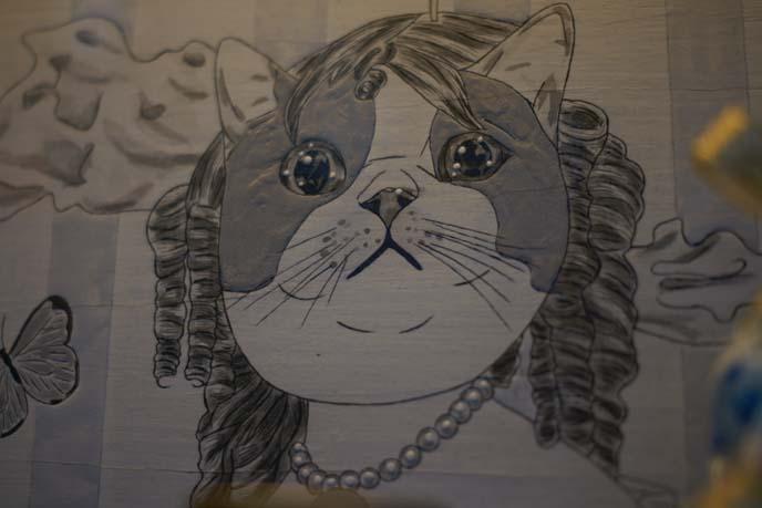 fat cat face drawing