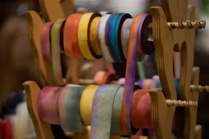colored dyed silk