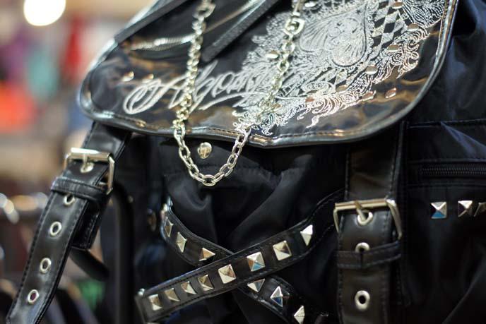 leather stud messenger bag