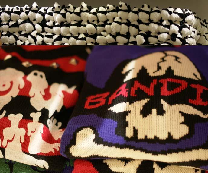 ne-net pandas, pop print sweaters