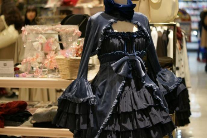 velvet victorian lolita dress