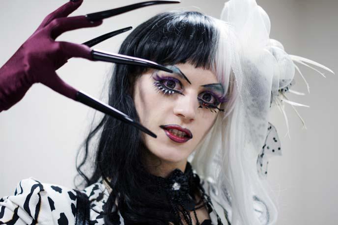 tokyo goth makeup, drag queen