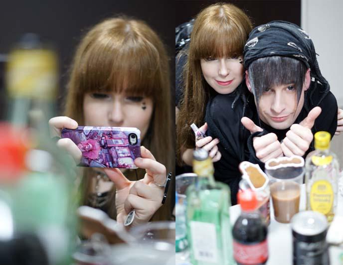 girl taking iphone photos