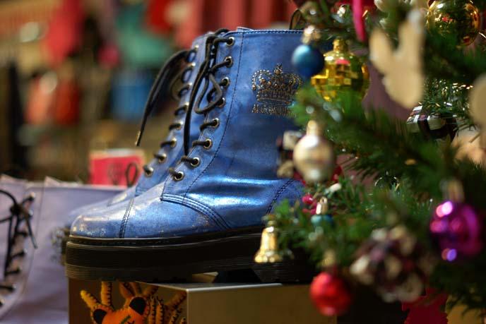 algonquins blue goth boots