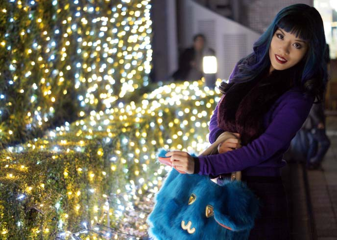 Christmas lights japan, fashion snaps