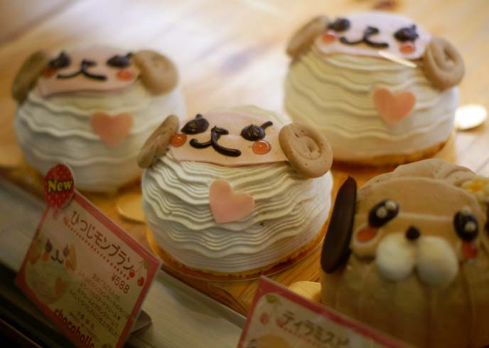lamb cute face cakes, hitsuji