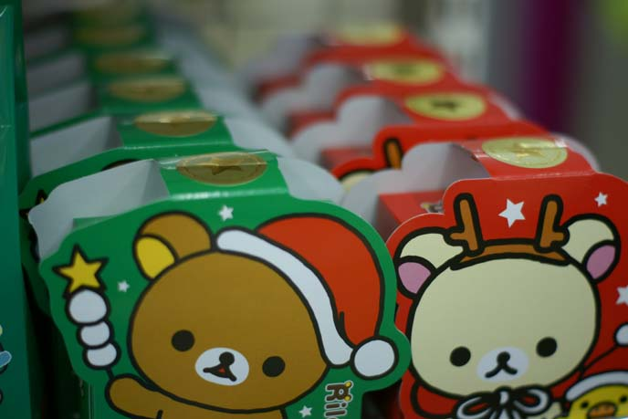 rilakkuma christmas snacks
