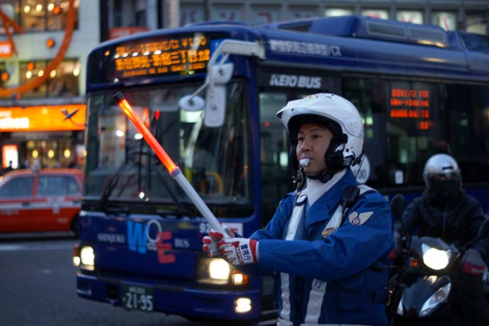 tokyo traffic officer