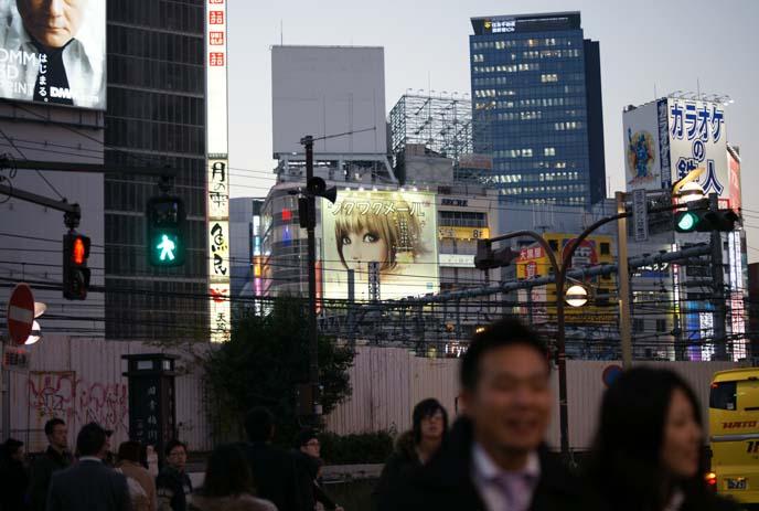 tokyo buildings, shinjuku signs