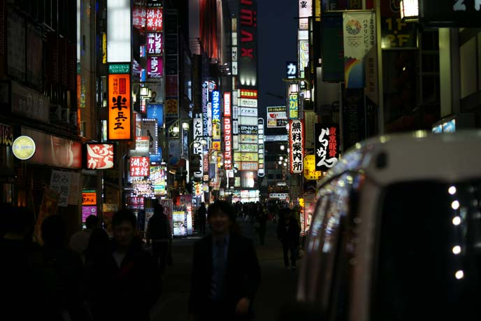 shinjuku streets nighttime photography