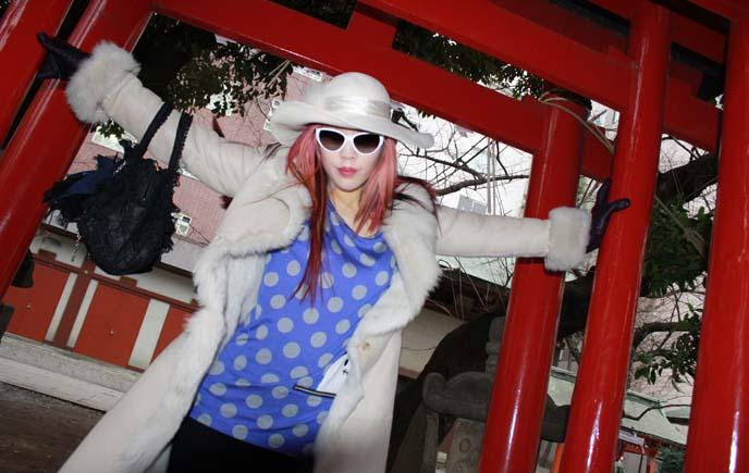 shinjuku hanazono shrine torii, red shinto gates