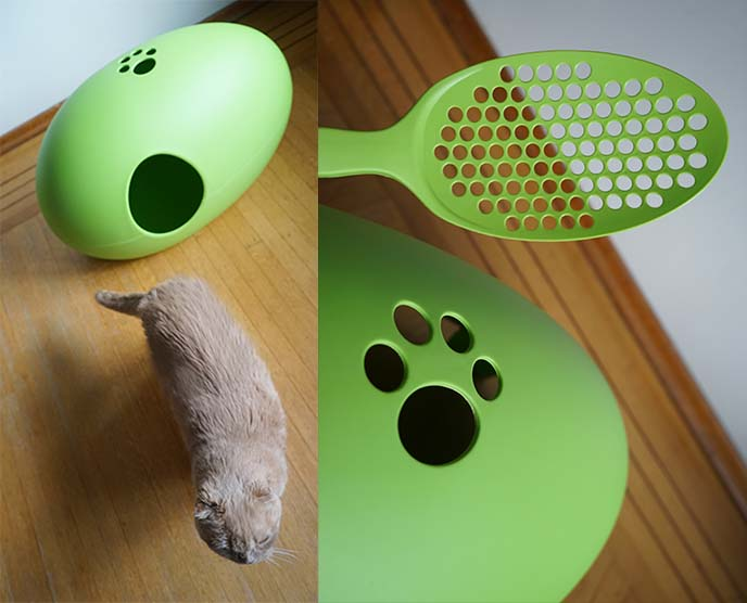 designer cat litter scoop