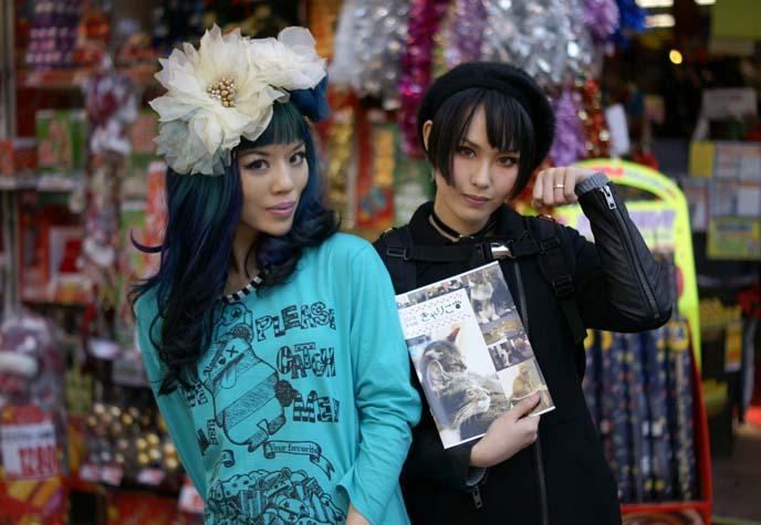 tokyo fashion street snaps, punk girls