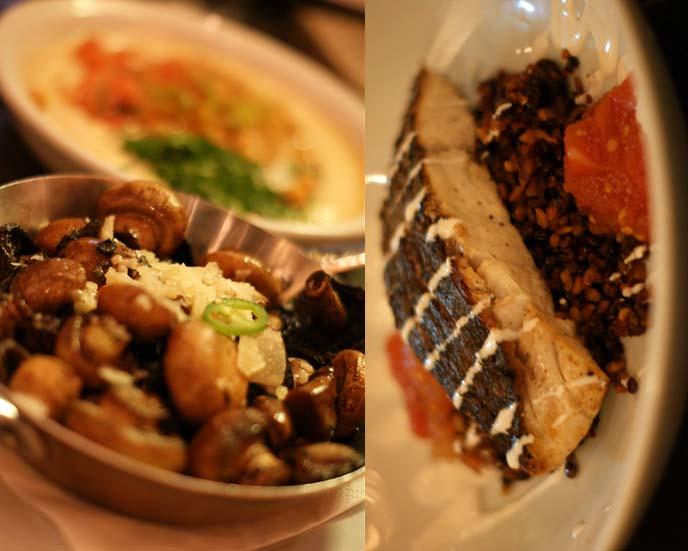 grilled mushrooms, top israel restaurants