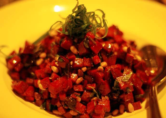 beet pine nuts salad
