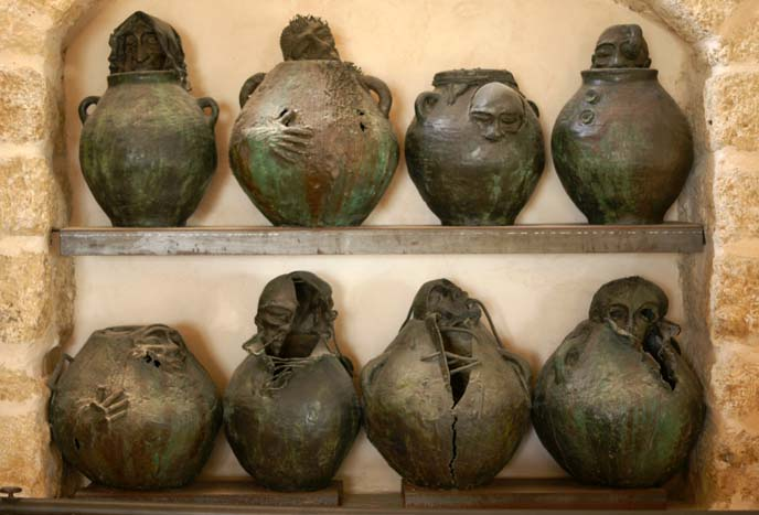 horror vases, scary sculptures