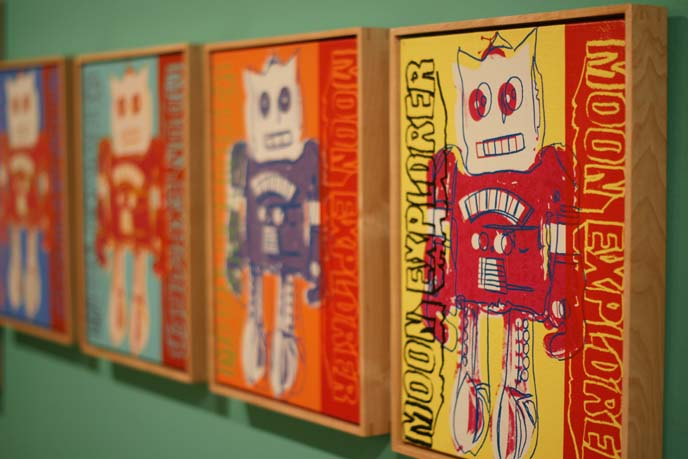 andy warhol robot paintings