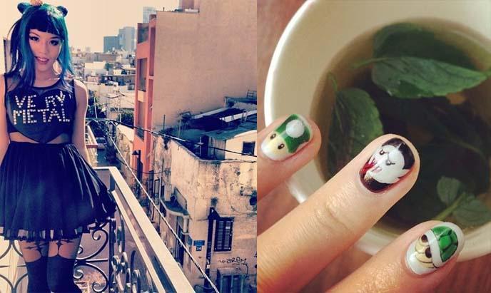 nintendo nail art, boo ghost nails