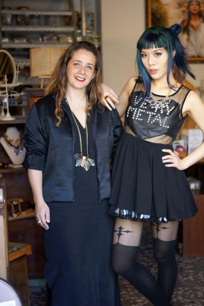 goth cross stockings, tokyo fashion girl