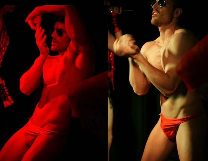 male stripper, tel aviv