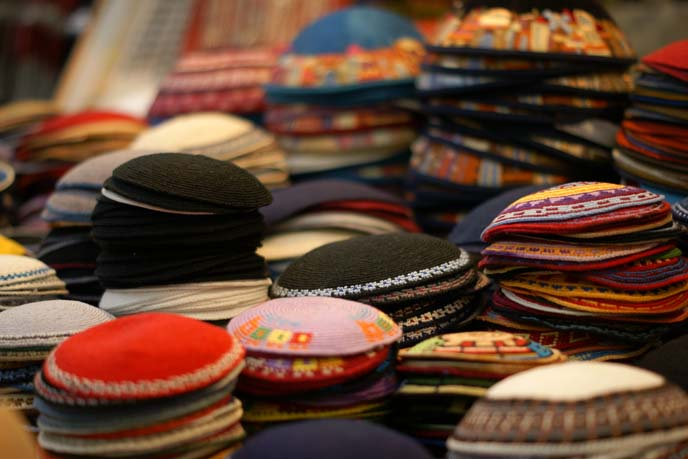 yamukas, colorful kippahs