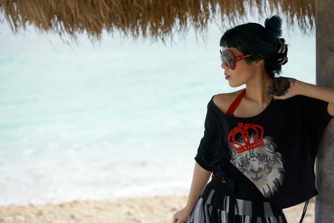 dead sea beach girl