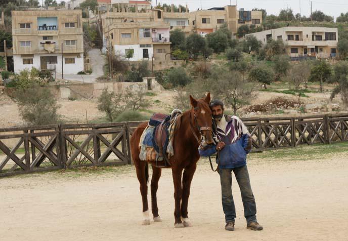jordanian man with horse