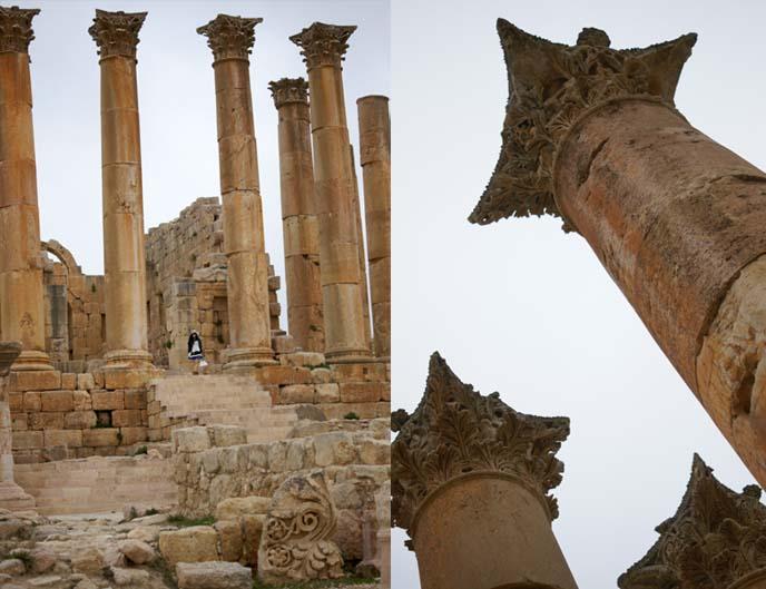 Jerash Temple of Artemis, acanthus columns