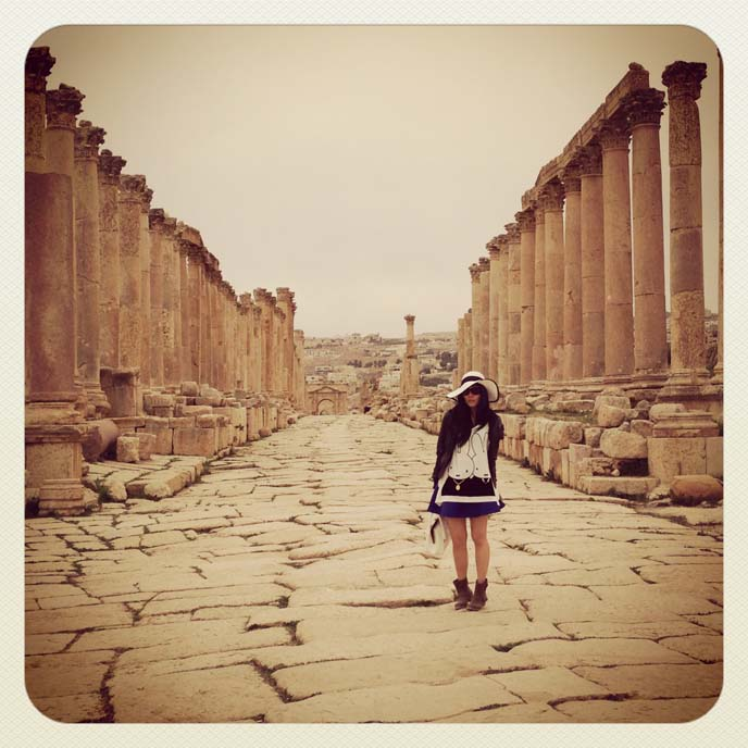 jerash colonnaded cardo maximus