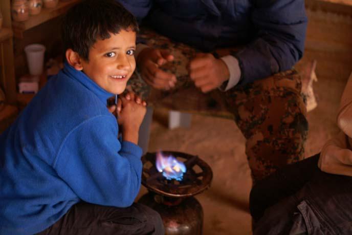 jordan Bedouin boy
