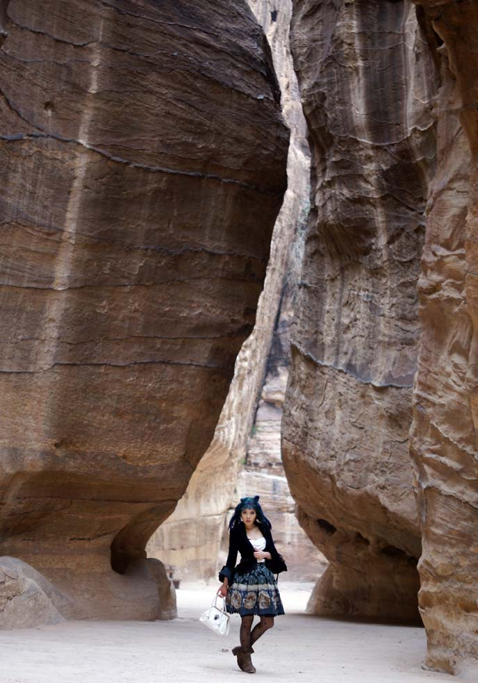 rock entrance to ancient city jordan