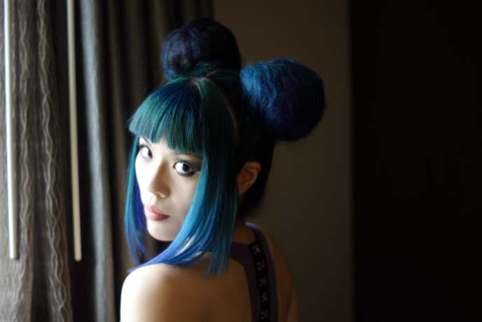 two buns japanese hairstyle