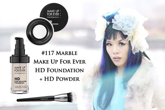 make up forever hd foundation, powder