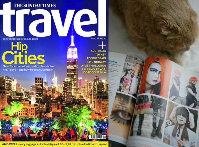 magazine cover, Sunday Times Travel uk