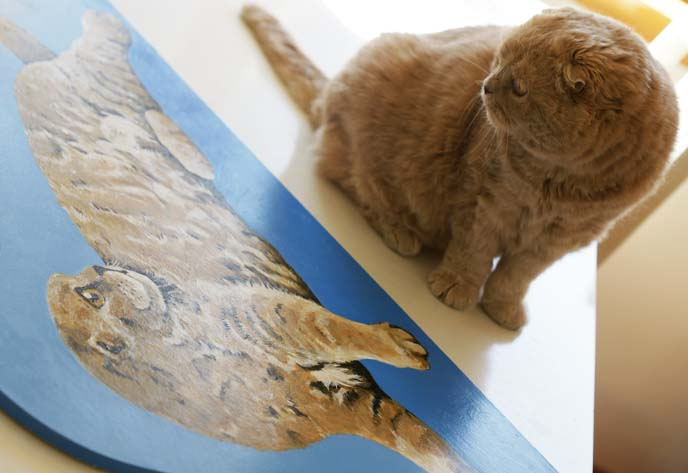 bitsy knox artist, cat painting